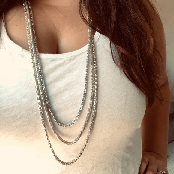 Target Jewelry - Silver layered chains